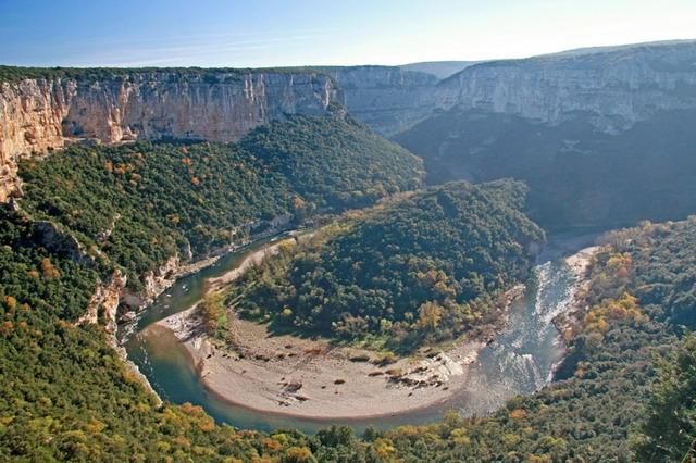 Wandelvakantie Frankrijk - Gorge de l'Ardèche in Vallon Pont d'Arc (Ardèche, Frankrijk)