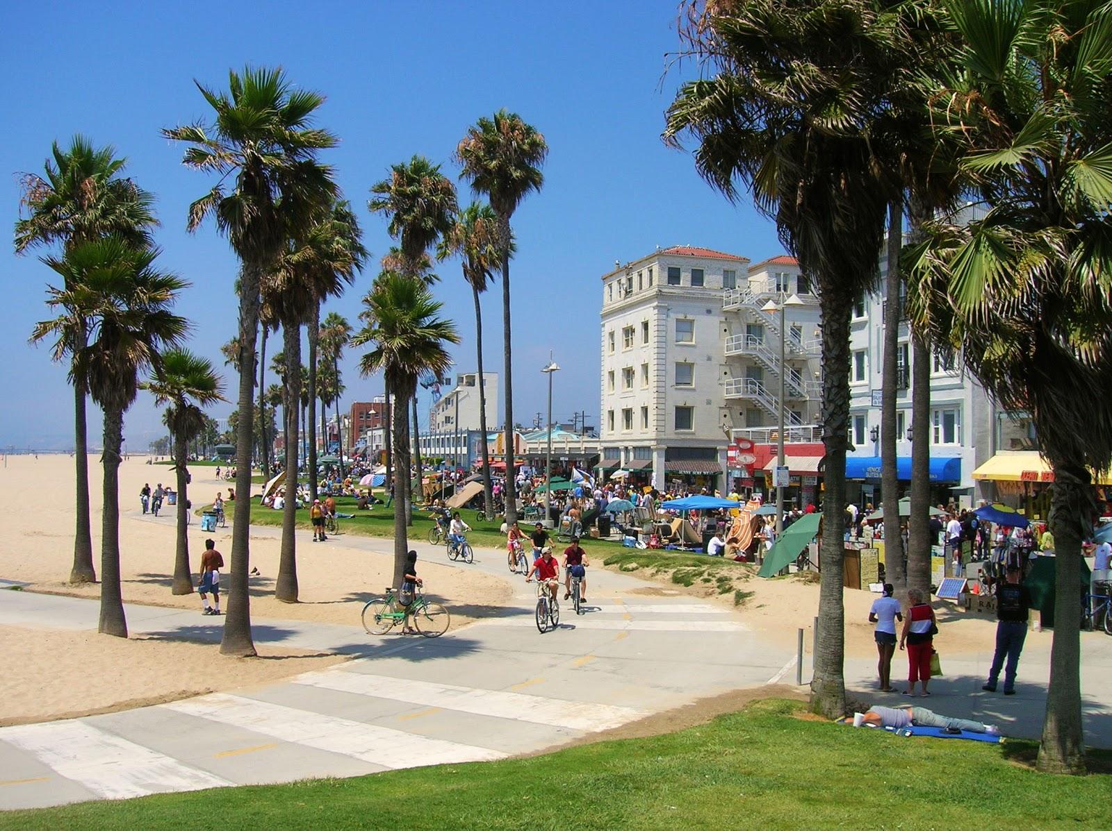 Venice Beach Los Angeles Strandverblijf Avontuur Op