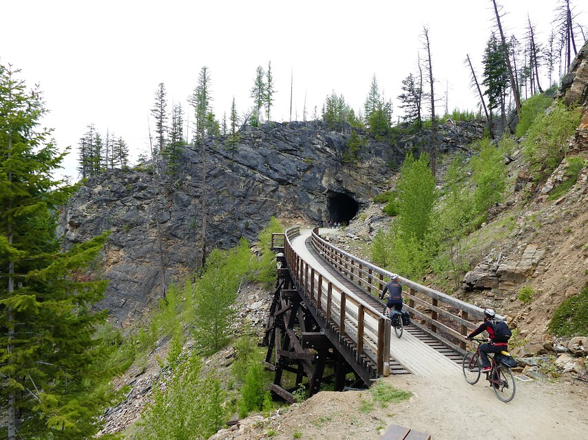 Canada British Columbia Kettle Valley Rail Trail